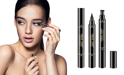 2 in 1 Smudgeproof  Liquid Eye Liner Pen with Eyeliner Stamp