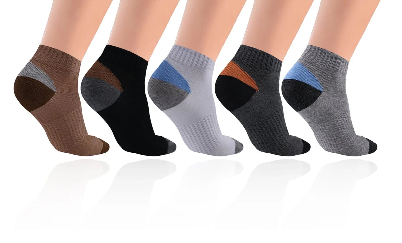 5-Pairs : Unisex High Compression Ankle Length Socks