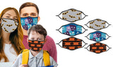 ADULT & KID'S MATCHING SET - Washable & Reusable Cloth Masks (6 Masks)