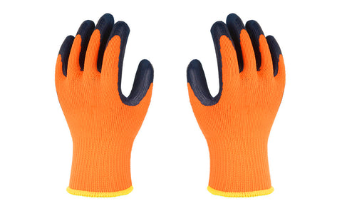 Heavy-Duty High-Visibility Cold-Weather Work Gloves (1 or 2-pair)