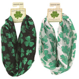 Infinitely Irish Shamrock Loop Scarves