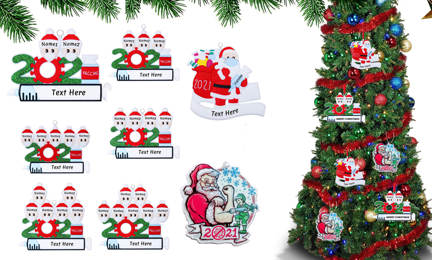 shopify-2021 Quarantine Special  Family Christmas  Ornaments Personalized Gifts for All-1