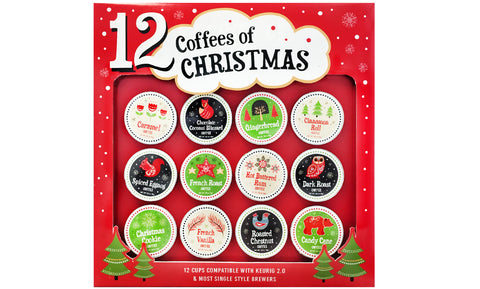 12-Pack: Assorted K-Cups Christmas Holidays Coffees