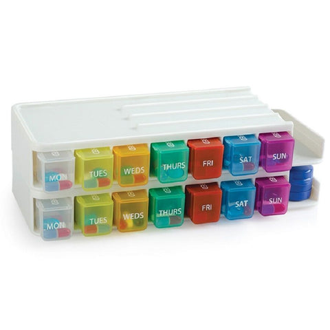 Weekly Pill Sorter & Organizer with Pill Cutter