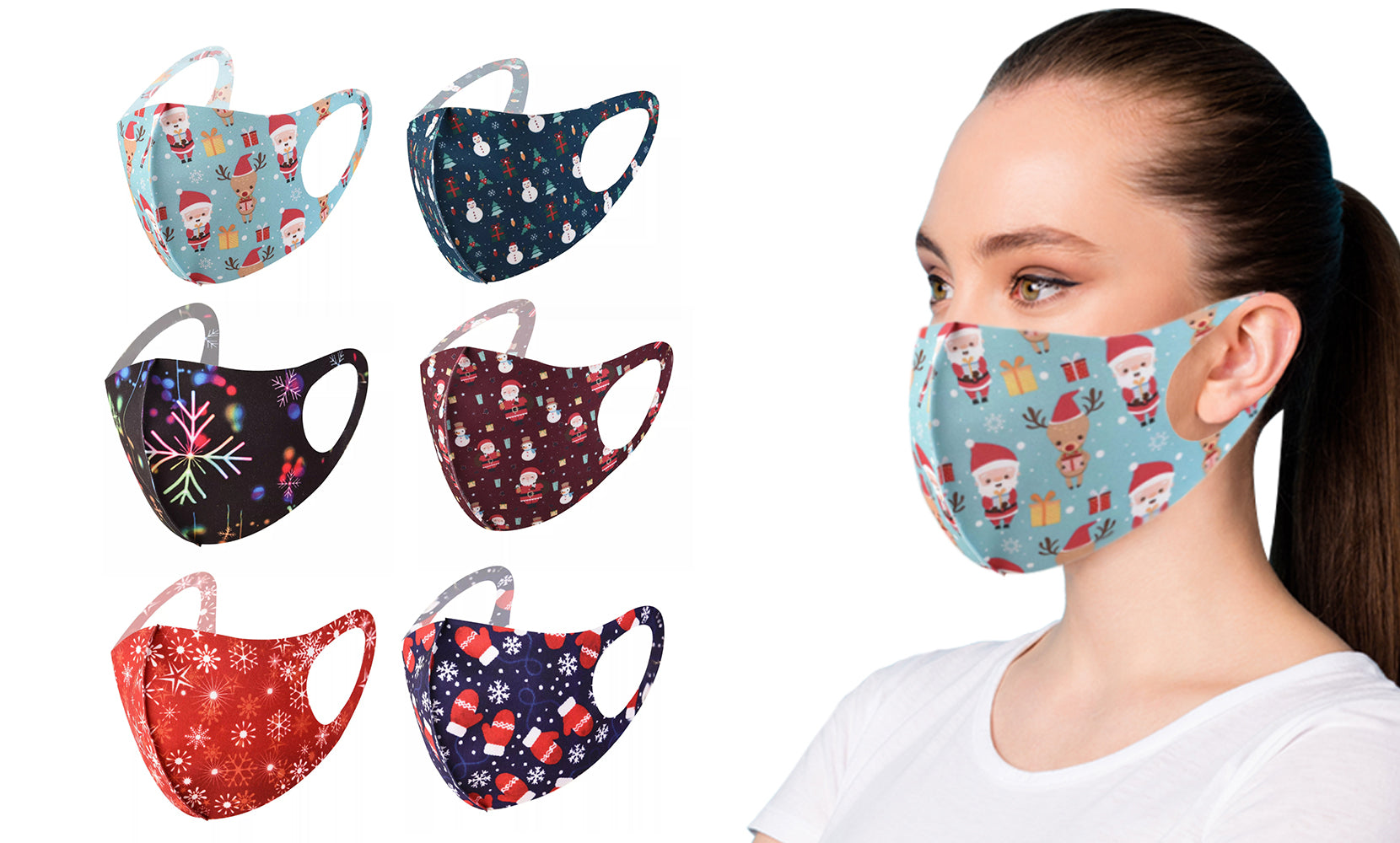 shopify-6-Pack : Holiday Themed Reusable Face Masks-1