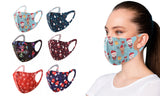 6-Pack : Holiday Themed Reusable Face Masks