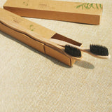 2-Pack 4-Pack or 6-Pack : Anti-bacterial Bamboo Charcoal Toothbrush