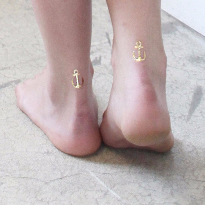 8-Pack Waterproof Temporary Metallic Sticker Tattoo