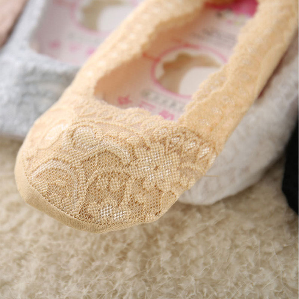 No-Show Lace Footies