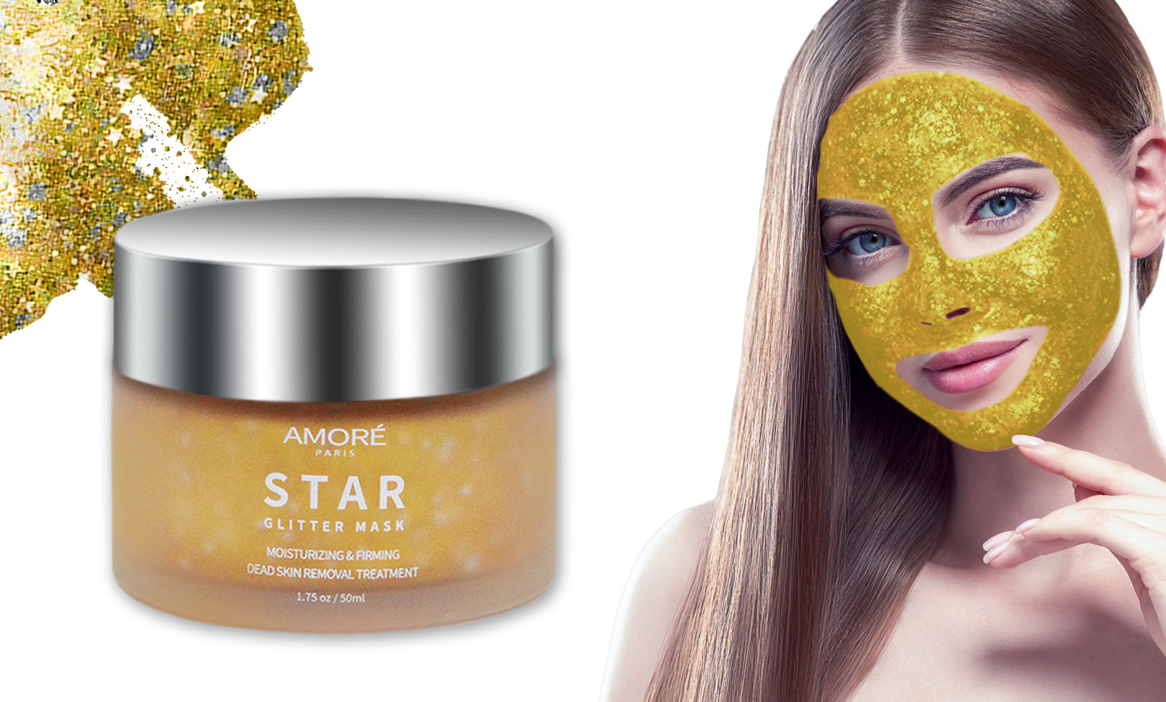 24K Gold  Glitter Peel-Off Mask