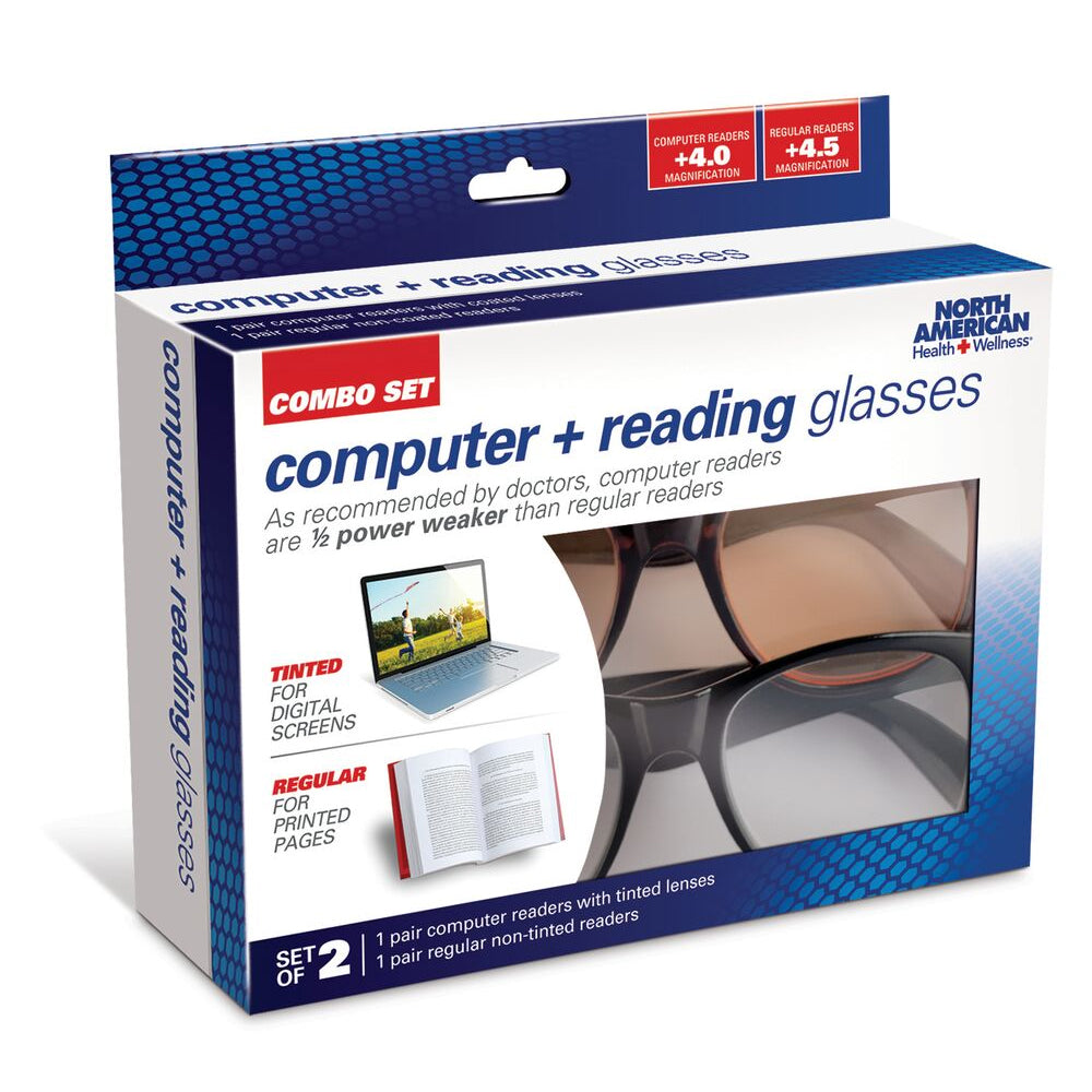 Computer and Reading Glasses Combo