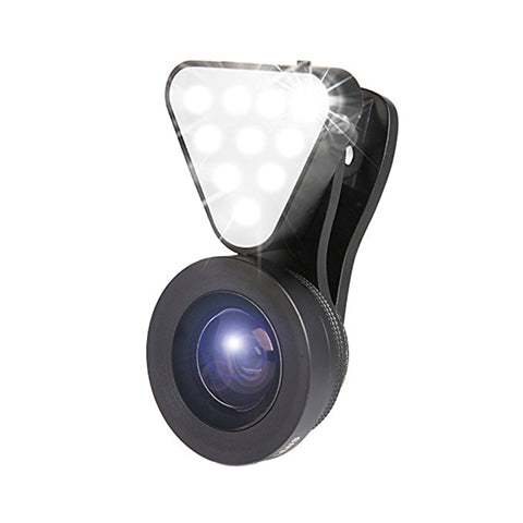 3-in-1 Phone Lens with 10 LED Flashlight Kit