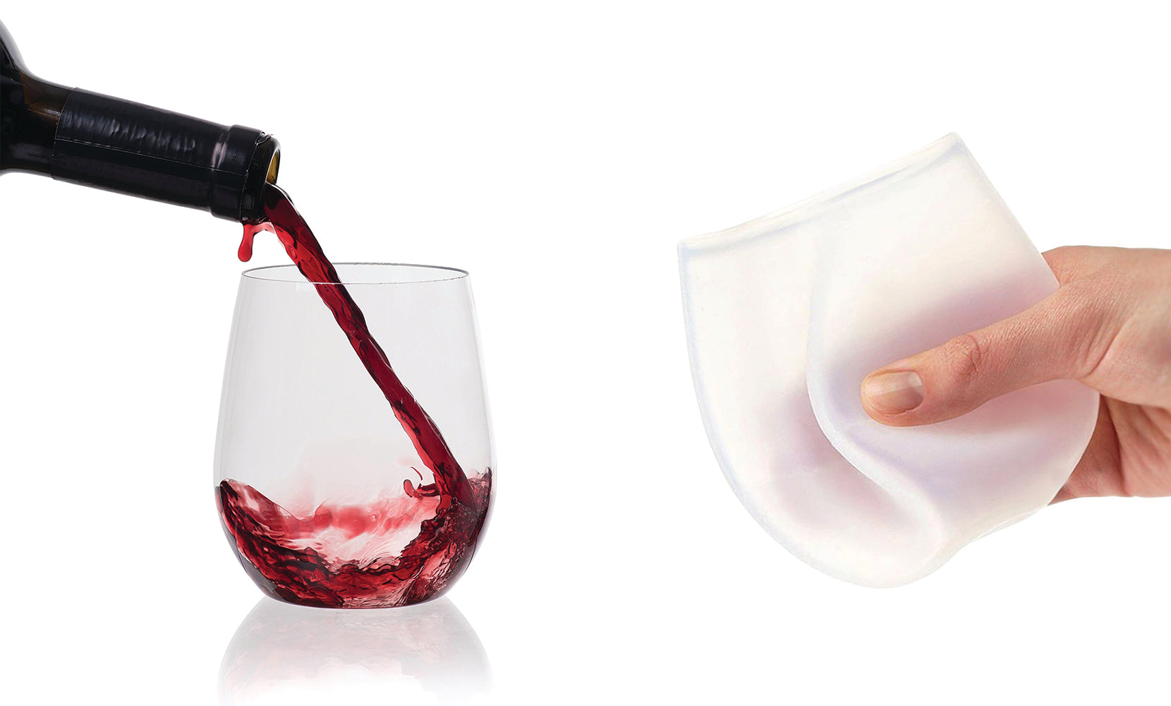 Silicone Stemless and Portable Unbreakable Party Cups