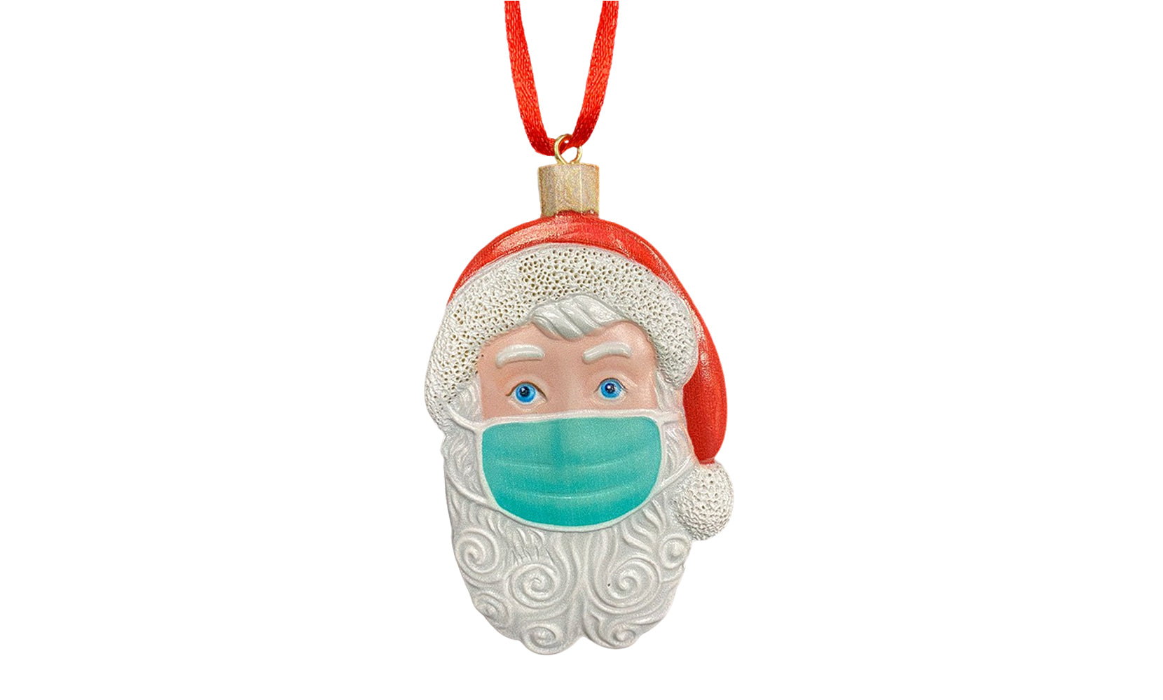 2020 Special Santa with Mask Ornament for Christmas  Holiday Celebration Decoration