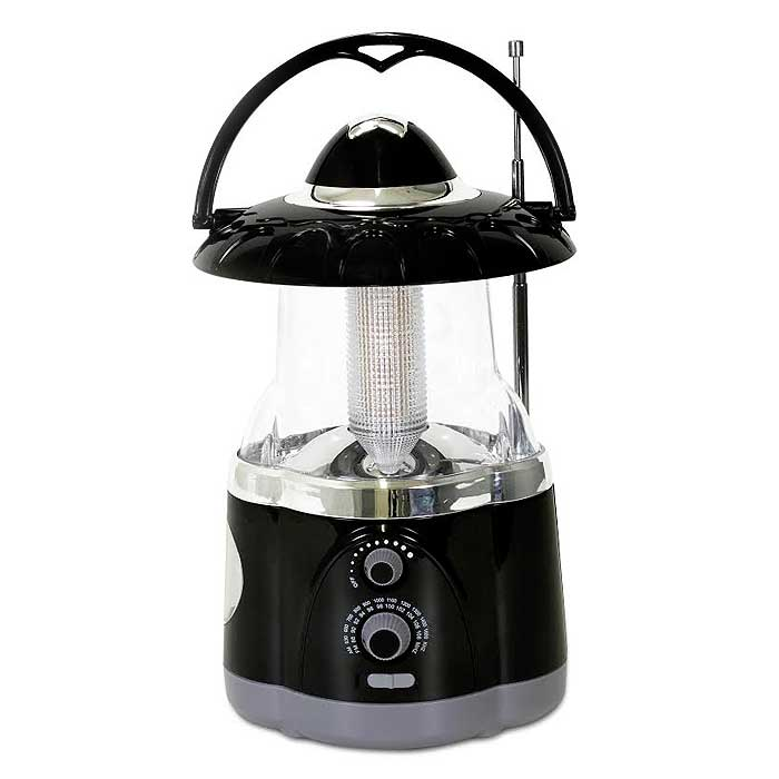 12-LED Lantern with 4-LED Flashlight and AM/FM Radio