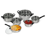 12-Piece Set : Ultimate Kitchen Stainless Steel Cookware