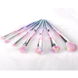 7-Pack: Iridescent Makeup Brushes