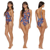 Flower Lace-up Swimsuit