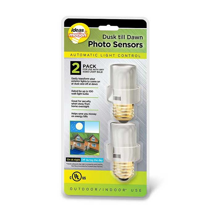 2-Pack Automatic Light Sensor