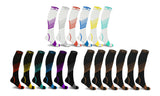 XTF Ultra V-Striped Knee-High Compression Socks (6-Pairs)