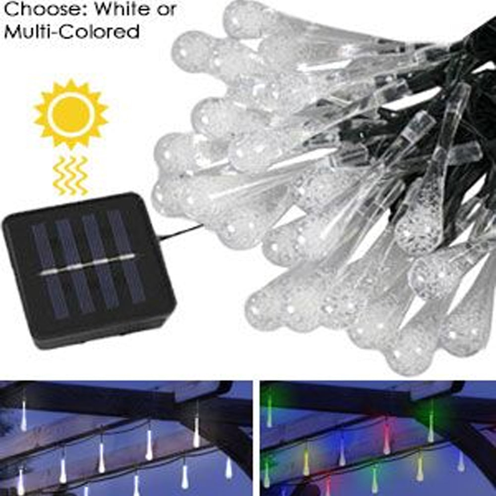 Stunning 30 Bulb Solar Icicle Lights
