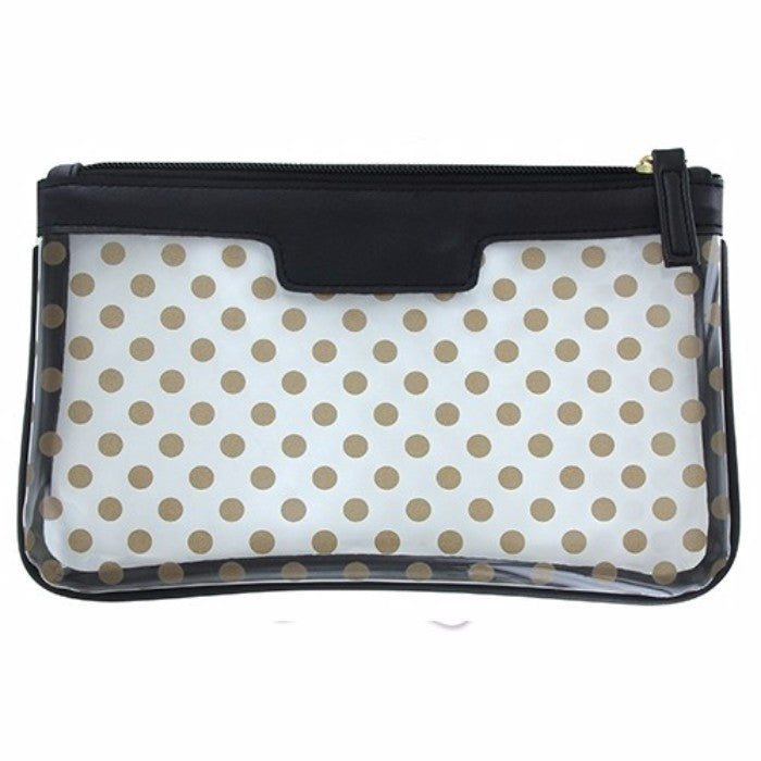Transparent Polka Dot Essentials Case - 3 Styles