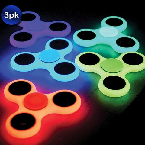 3 Pack: Glow in the Dark Fidget Spinners