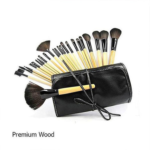 24 Piece : 10 Styles : Professional Makeup Brush Set with Case