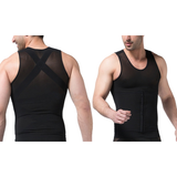 3-in-1 Men Compression and Posture Corrector Shirt with Slimming Belt