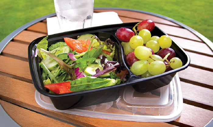 20-Piece Set: Two Compartment Lunch Containers