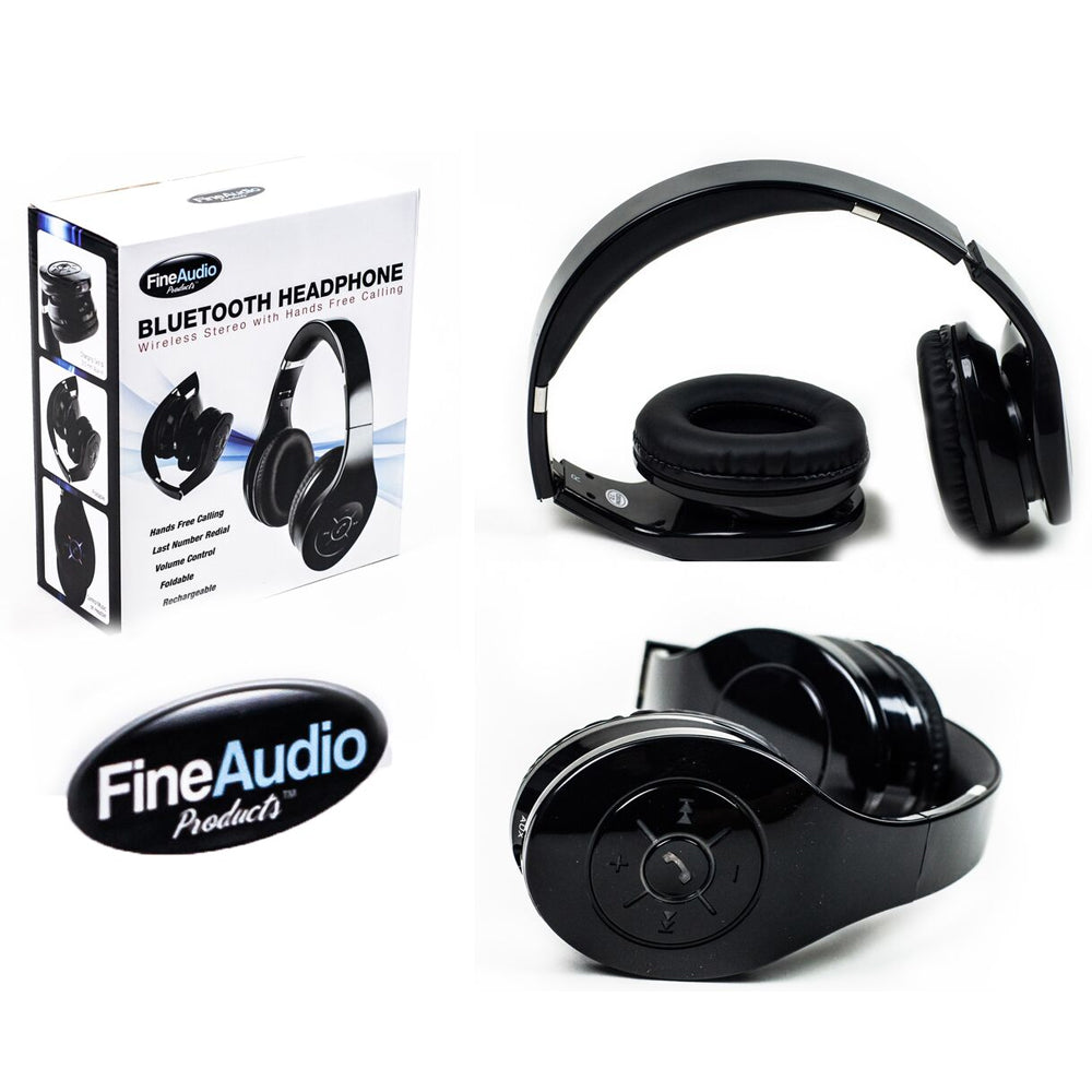 FineAudio Bluetooth DJ Headphone Wireless Stereo with Hands Free Calling