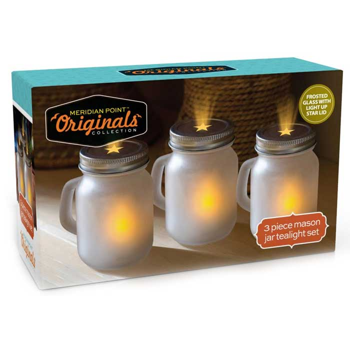 3 Pack Mason Jar Tealight Set