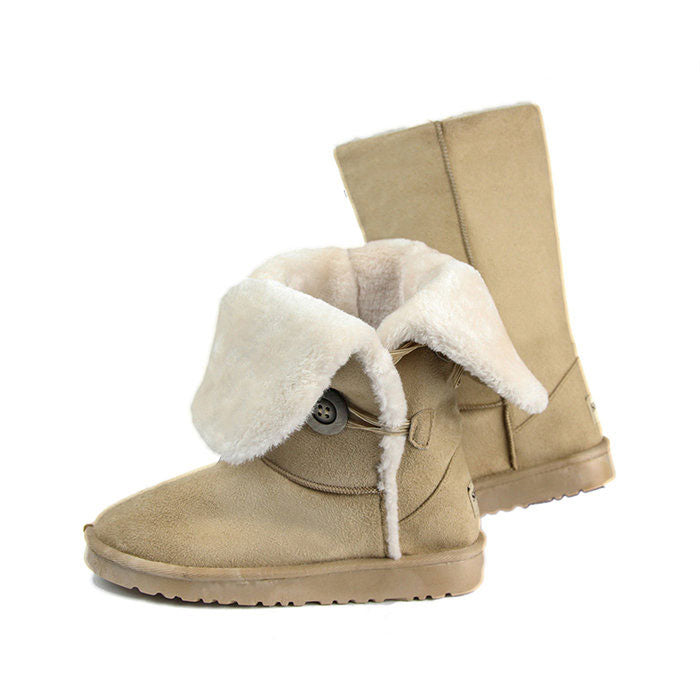3 Pairs Sheeps Faux Shearling 3-Button Boots