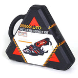33-Piece Auto Emergency Kit with Carrying Case and Hazard Sign