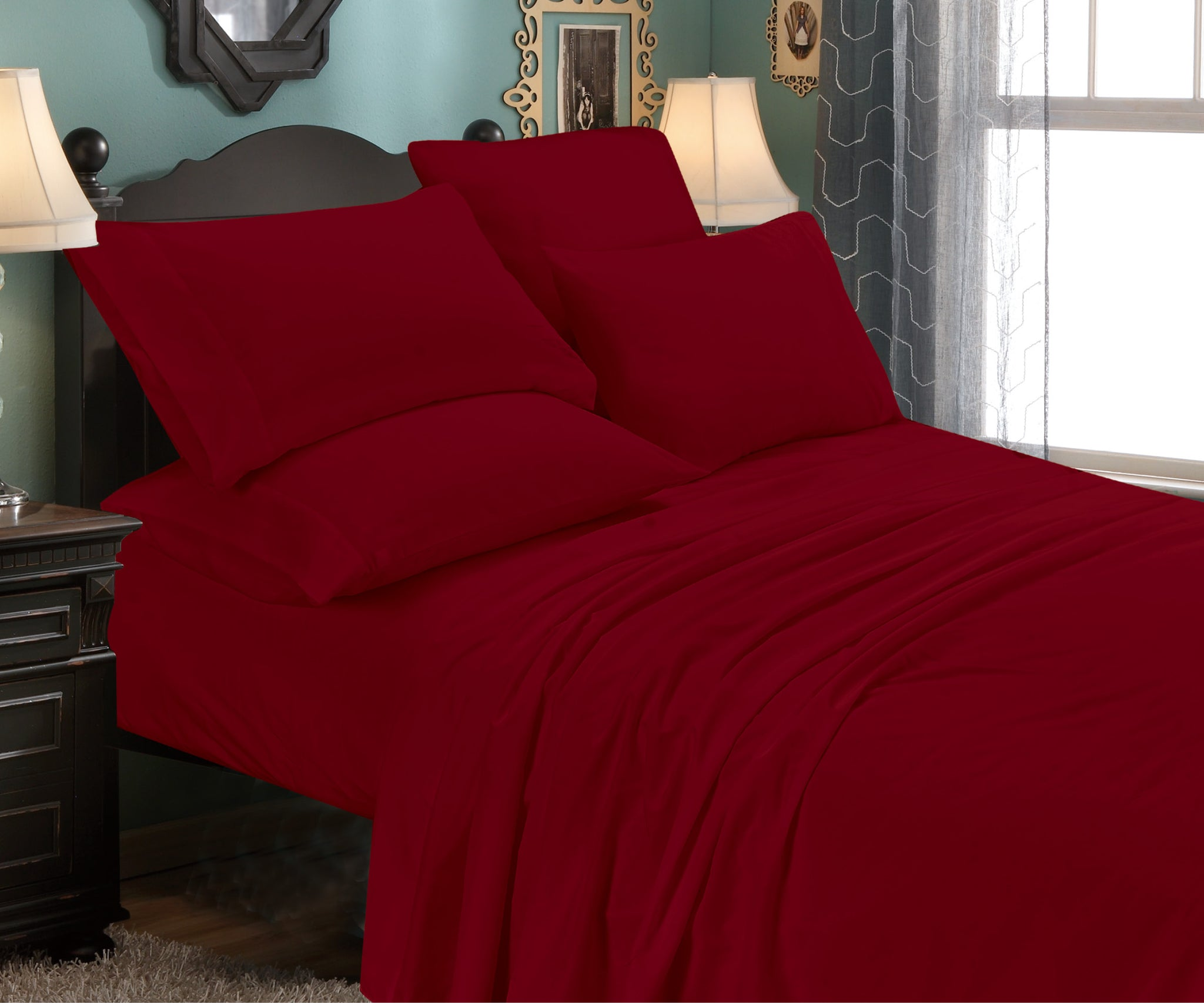 6-Piece: Premium Quality Super Soft Bed Sheet Set
