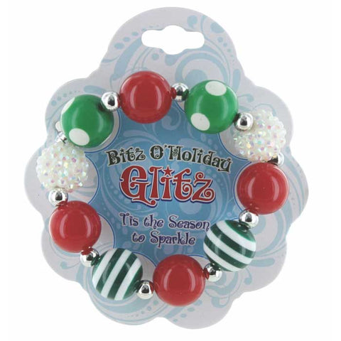 4-Pack: Bitz O'Holiday Glitz Stretch Bracelet