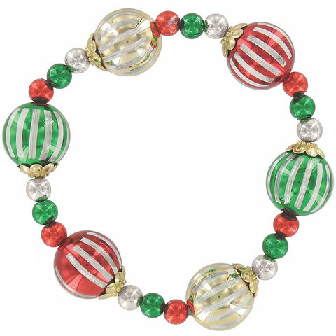 4-Pack: Christmas Ornament Bracelet