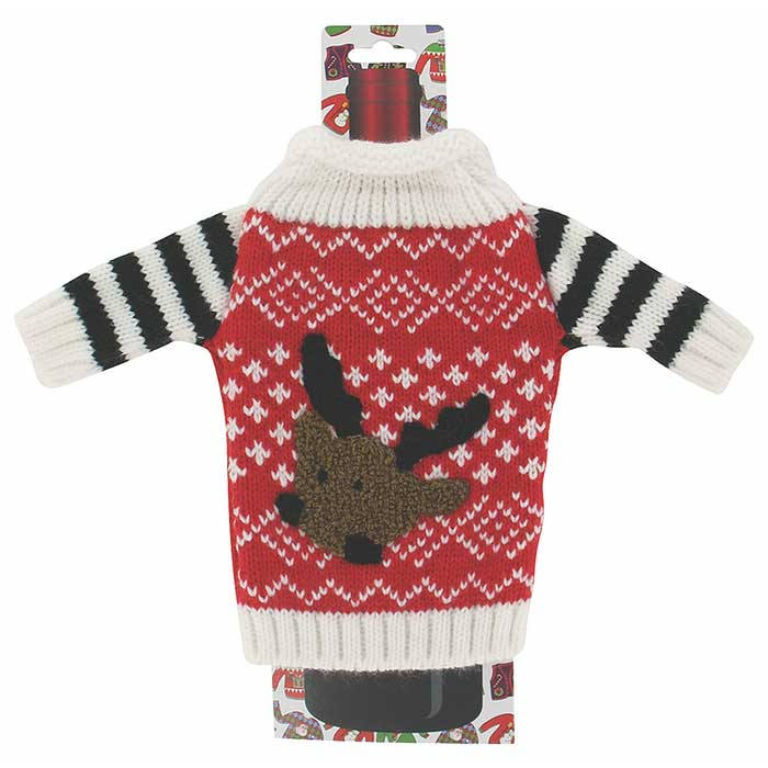 4-Pack: Uncle Bob's Ugly Sweater Knitted Bottle Sweaters