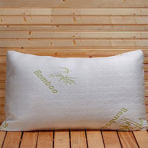 shopify-Bamboo Memory Foam Hypoallergenic Pillow-1
