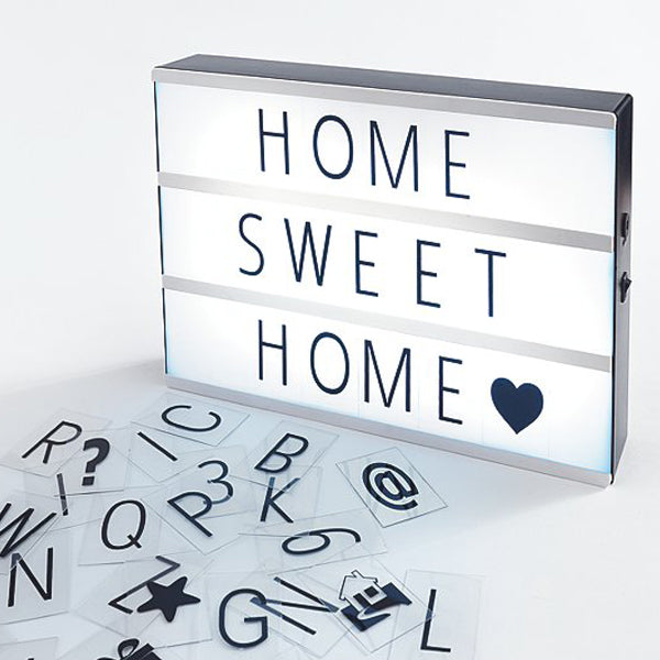 Light Box with Letters and Number Tiles