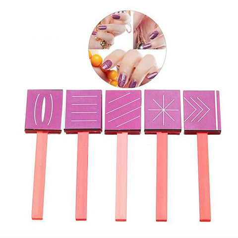 5-Piece 3D Magnetic Nail Art Magnetic Wand Set