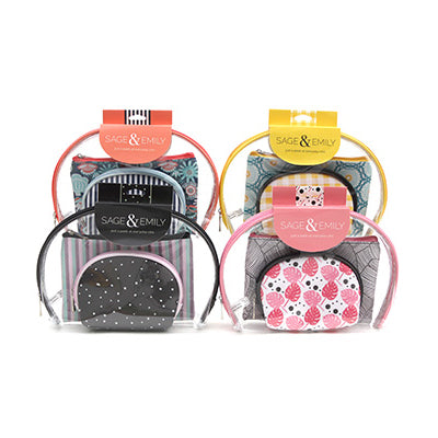 Sage & Emily 3-pc Cosmetics Case Set