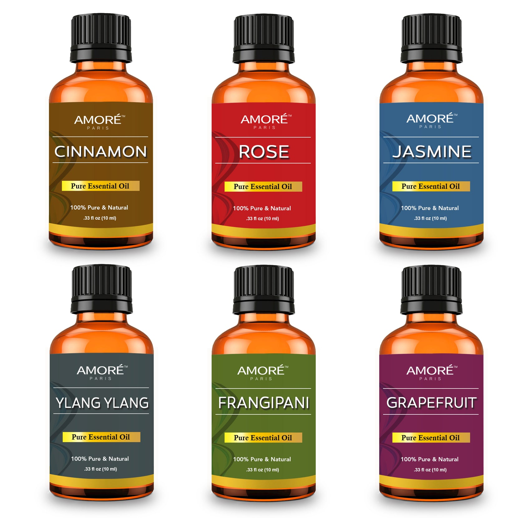 6-Piece: Aromatherapy Therapeutic Grade Essential Oils Gift Set