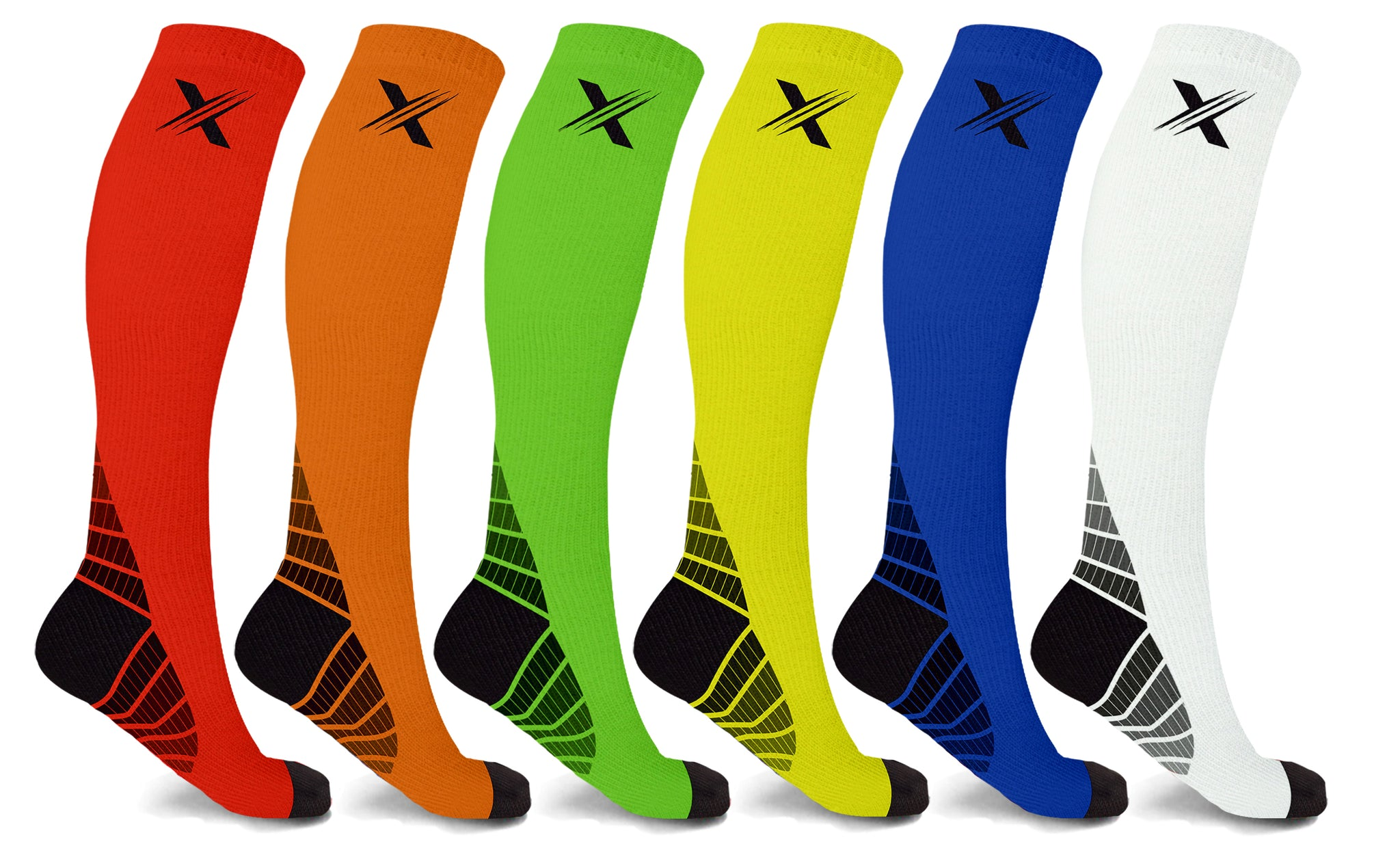 6-Pairs: Performance Support Compression Socks