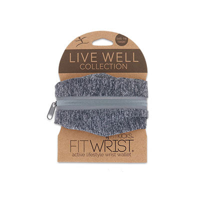 FITWRIST by FITKICKS®  LIVE WELL COLLECTION  active lifestyle wrist wallet