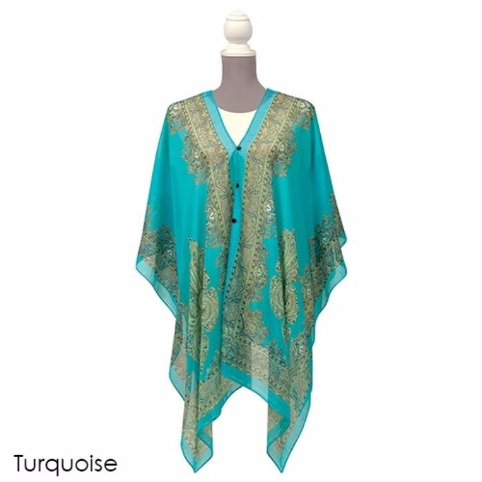 Carefree All-In-One Poncho/Scarf/Wrap - 6 Styles