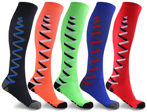 5-Pair: Vapor 3-D Compression Socks