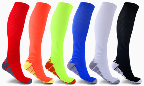 6-Pairs: Knee High Sports Compression Socks