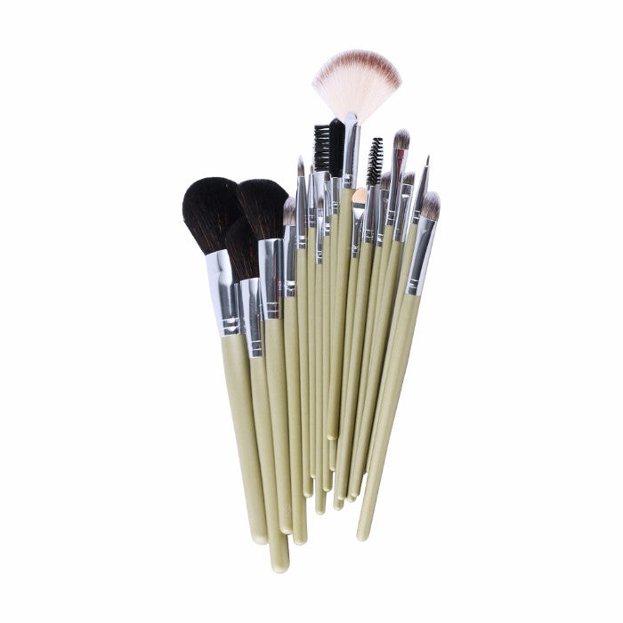 19-Piece : Professional Makeup Brush Set with World-Map Pouch