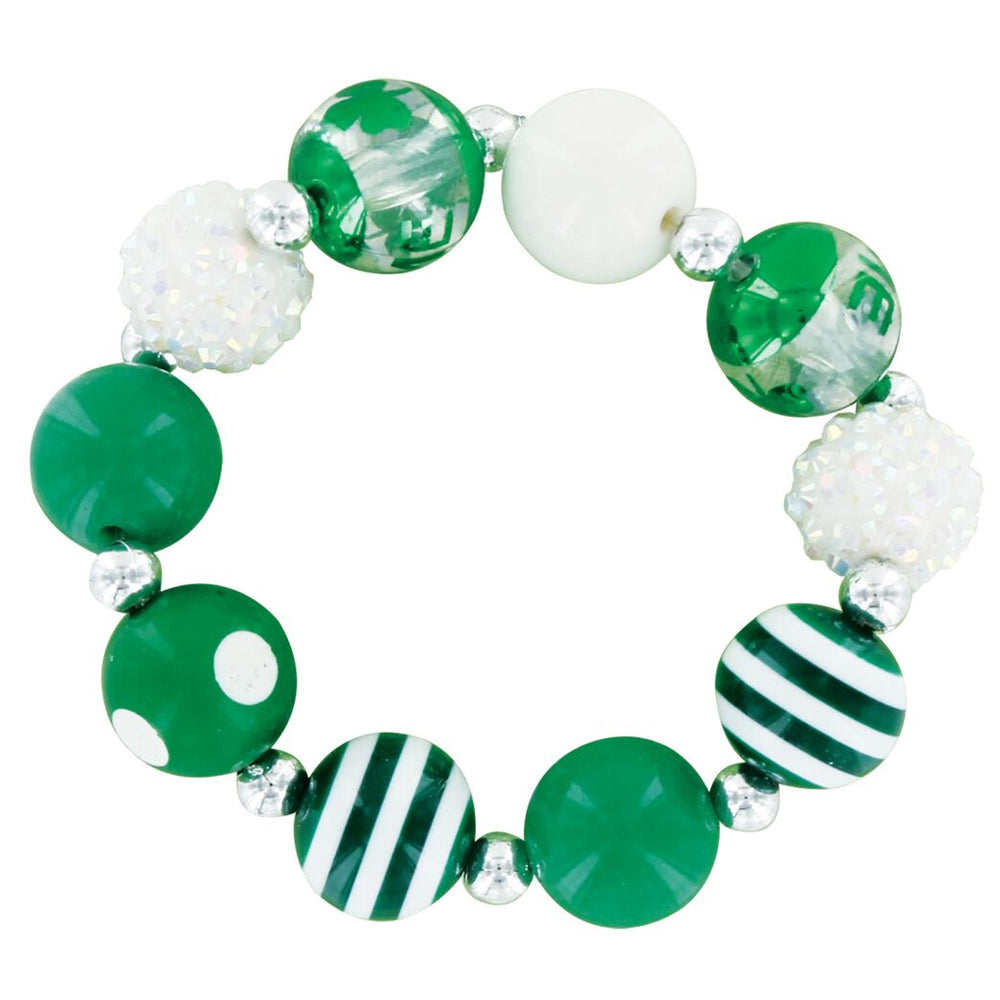 Lucky St. Bling Stretch Bracelet